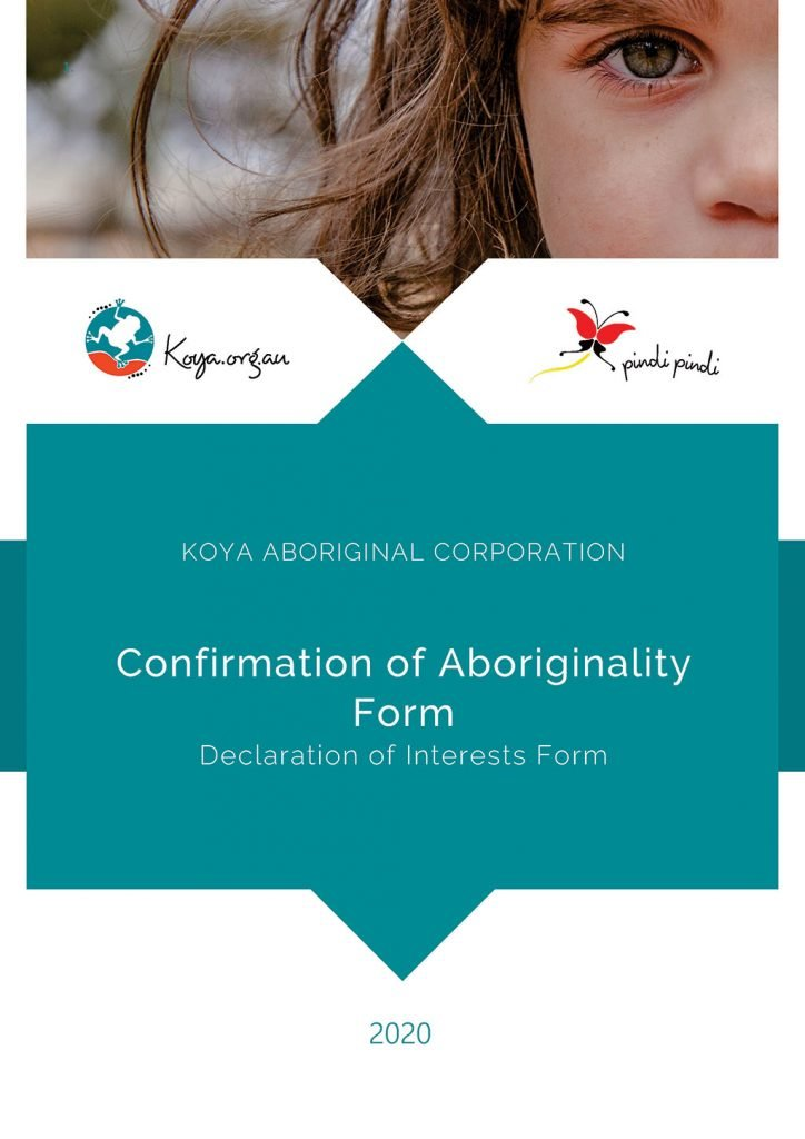 Koya Aboriginality Form_2020 front cover